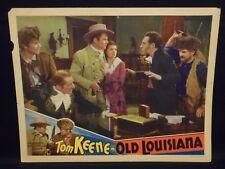 Tom Keene Rita Hayworth Old Louisiana 1937 Lobby Card vg Western