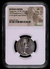 AUGUSTUS 27 BC - 14 AD CISTOPHORUS ANCIENT ROMAN EMPIRE COIN SIX GRAIN EARS C...