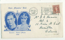 Canada 1939 Royal Visit Event Cover Royal Train Slogan Postmark Cachet May 24 X