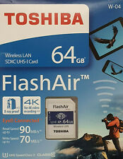 Toshiba 64GB CLASS 10 SDHC mit WiFi Flash Memory SD Card fur 4K bis zu 90MBs OVP