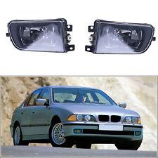 2 For 1997-2000 BMW E39 Clear Lens Driving Fog Lights Z3 Bumper Lamps Black
