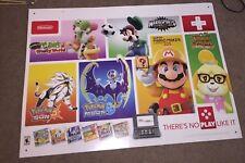 "Nintendo 3ds Display Advertising Sign Poster  36"" x 26"" (Rare)"