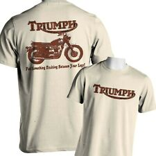 Vintage Motorcycle T-Shirt Triumph Classic British Mens Small to 6x and Tall