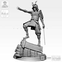 1/24 Unassembled Figure Warrior Skeleton Samurai scale 75mm model