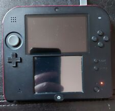 Nintendo 2ds red black console 4GB memory card stylus and charger tested/working