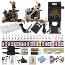 Complete Beginnr Tattoo Kit 2 Gun Machine 20 Ink Power Supply 50 Needle Set Grip