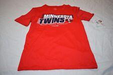 MLB Genuine Merchandise Boys Minnesota Twins T-Shirt Small 8 Red New