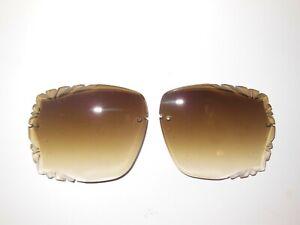 New Diamond Cut Replacement Lenses Fits Rimless Luxury Decor Sunglasses Size 60