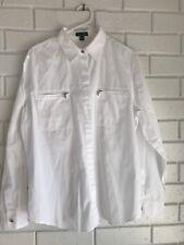 Ralph Lauren Jeans co Womens White Shirt cotton XL EUC Blouse Top Plus size