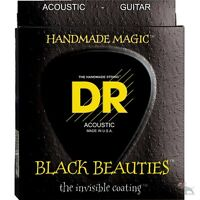 DR Strings BKA-12 K3 Black Beauties Medium Acoustic​​ Guitar Strings (12-54)