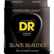 DR Strings BKA-12 K3 Black Beauties Medium Acoustic Guitar Strings (12-54)