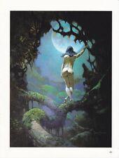 "1996 Full Color Plate "" Moon's Rapture "" by Frank Frazetta Fantastic GGA"