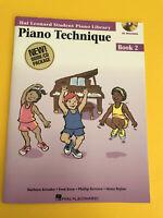 Piano Technique Book 2, Hal Leonard Student Library, Book/CD Set