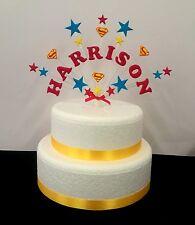 Personnalisé super-héros superman décoration de gâteau d'anniversaire