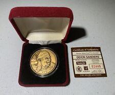 Deion Sanders Highland Mint Bronze Medallion