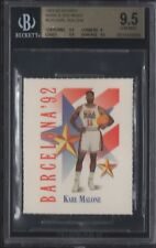 BGS 9.5 KARL MALONE 1991-92 SKYBOX MARK & SEE MINIS DREAM TEAM USA JAZZ GEM MINT