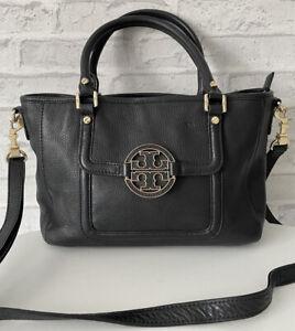 Tory Burch Black Leather Bag Crossbody Satchel