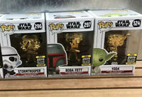 Funko Pop! 2019 Galactic Convention Star  Wars 3 Exclusive Chrome 296/297/124