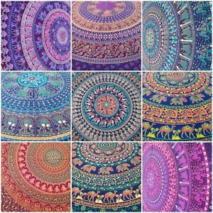 Large Mandala Tapestry Elephant Wall Hanging Throw India 100% Cotton King Size