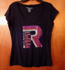 Rocawear Top Black Silver Red Pink Logo Studs Size XL