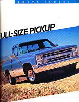 1986 Chevrolet Pickup Truck 16-page Sales Brochure Catalog - Silverado C20 C30