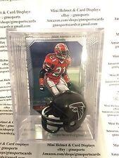 Deion Sanders Atlanta Falcons Mini Helmet Card Display Collectible Case HOF Auto