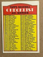 Topps 1972 #378 4th Series Checklist