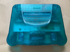 N64 Ice Blue Console PAL +Tim Worthington RGB+ Deblur. Console + Scart Only