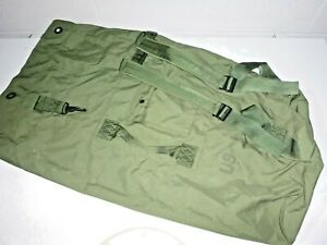 """US Military USMC Army Navy Surplus Green 36"""" 2-Strap Backpack Duffel Bag GC"""