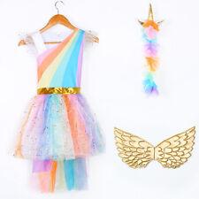 Kids Girls Unicorn Halloween Fairy Fancy Costume Dress Up Cosplay Party Headband