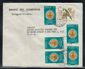 COLOMBIA Commercial Cover Cartagena to New York City 26-4-1961 Cancel