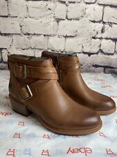 Timberland Women's Sutherlin Bay Buckle Ankle Boots Brown Size 8.5