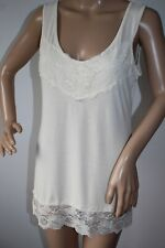 "A POSTCARD FROM BRIGHTON ""ENYA"" LACE VEST TOP IN VANILLA ICE SIZE 2  BRAND NEW !"