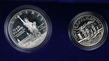 1986 2 Coin Uncirculated Liberty Set - In Mint Box w/COA!