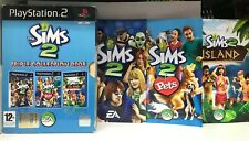 THE SIMS 2 TRIPLE COLLECTION 2008 PS2   PAL USATO