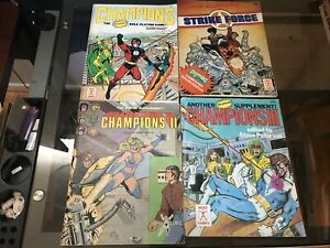 Hero games classic champions lot rpg + supplements and Strikeforce