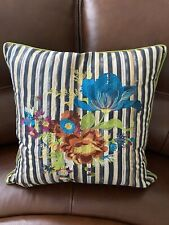 MacKenzie-Childs Embellished Floral Checkerboard Pillow