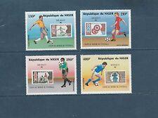 Niger poste aérienne  coupe du monde de Football  1986   num:  349/52  **