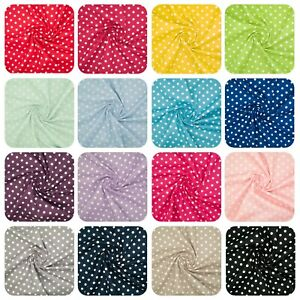 100% Cotton Fabric PEA SPOT 8MM SPOTTY POLKA DOT Material 145cm Wide