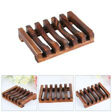 Natural Bamboo Wood Soap Dish Storage Holder Bath Shower Bathroom Holder Useful