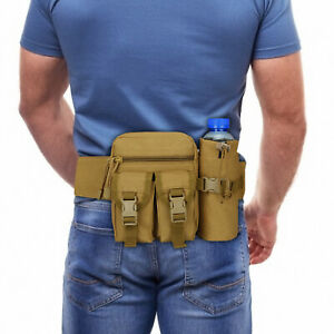 Men Outdoor Tactical Waist Bags Fanny Pack Military Backpack Pouch Travel Hiking