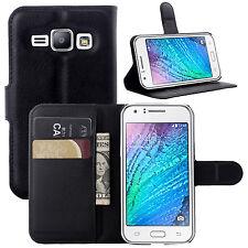PU Cuero Billetera Abatible De pie Estuche Cubierta para Samsung Galaxy J1 Mini Prime 2016