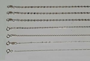 """MADE IN ITALY 925 STERLING SILVER CHAIN NECKLACE ROLO BELCHER FIGARO 16""""-24"""""""