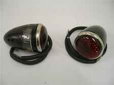 1937 Ford Car Deluxe Tail Lights 37 Street Rat Rod Left and Right Pair 12 Volt