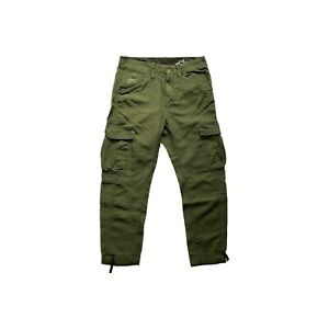 G-STAR D00376 WOMENS GREEN 3/4 CHINO ROVIC TAPERED TROUSERS NOW £30