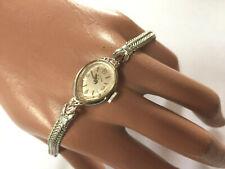 Art Deco LADY ELGIN Armbanduhr für Damen 10K GF Gold Weißgold 2 Diamanten