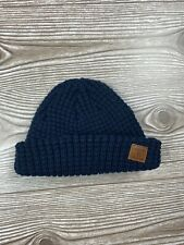 "Baby Boy Navy Blue Carter's Beanie Hat ""Handsome Little Man"" Size 0-3 Months EUC"