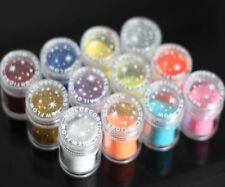 12 Colours Jumbo Size Nail Art Shine Glitter Powder Set For Nail Art Makeup