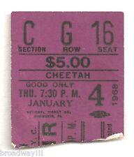 "Galt MacDermot ""HAIR"" James Rado / Off-Broadway 1968 Cheetah Theatre Ticket Stub"