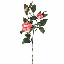 66cm Artificial Camelia Plant Spray - Spring Summer Stem with Pale Pink Flowers
